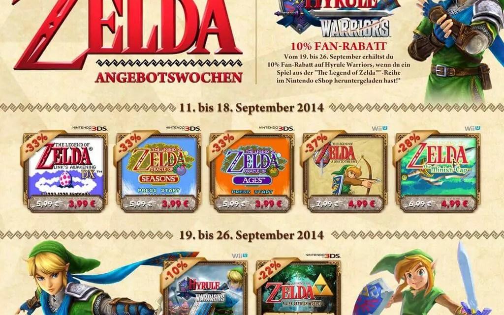 Nintendo eShop: 5 Zelda Spiele im Angebot