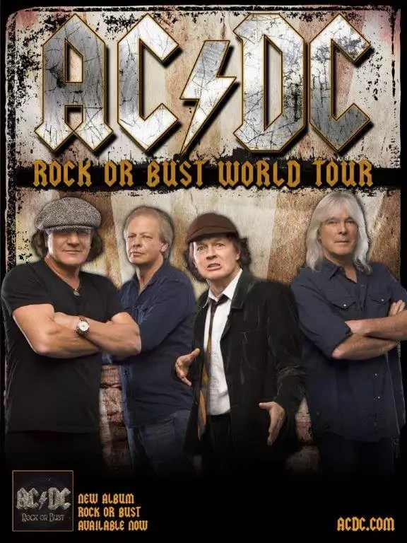 AC/DC Band Plakat - Rock or Bust 2014