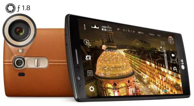 LG G4 Kamera und Vorderseite