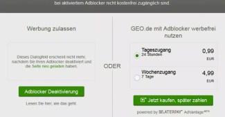 Jetzt sperrt auch GEO AdBlock-Nutzer 3