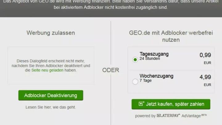 Jetzt sperrt auch GEO AdBlock-Nutzer