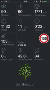 Pace Car - Eco Score im Drive Mode