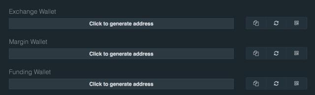 Exchange Wallet per Klick generieren