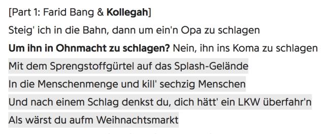 Kollegah & Farid Bang - Part - Track Drecksjob