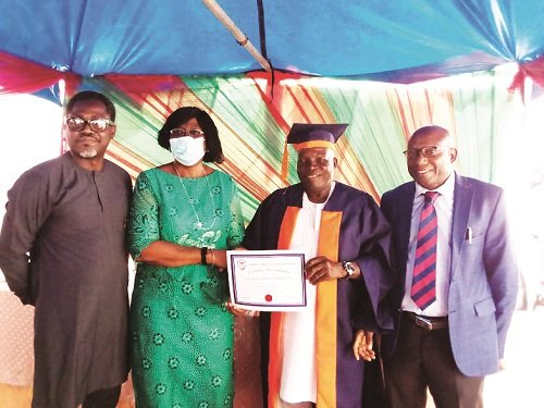 71-year-old, others graduate from vocational school