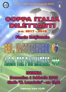 Finale Coppa Italia regionale edizione 2018