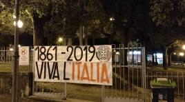 CasaPound, striscioni in oltre 100 città per ricordare l'unità d'Italia