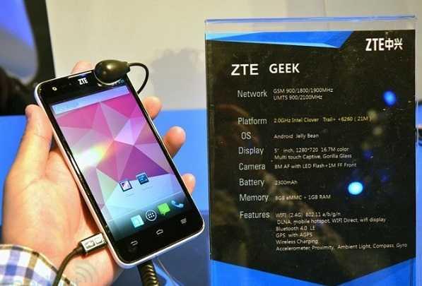 ZTE con display da 5 e Intel Atom