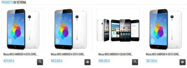 Lo shop online di Meizu.it