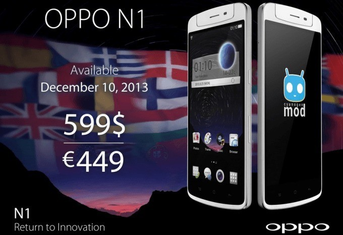 Oppo N1 ora disponibile in Europa