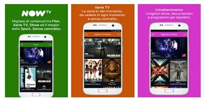 NOW TV arriva su smartphone Android