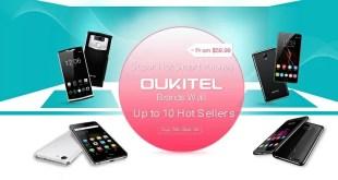 OUKITEL annuncia una vendita lampo su Gearbest su 10 diversi smartphone