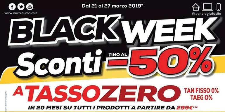 Nuovo volantino Euronics: Ecco la Black Week