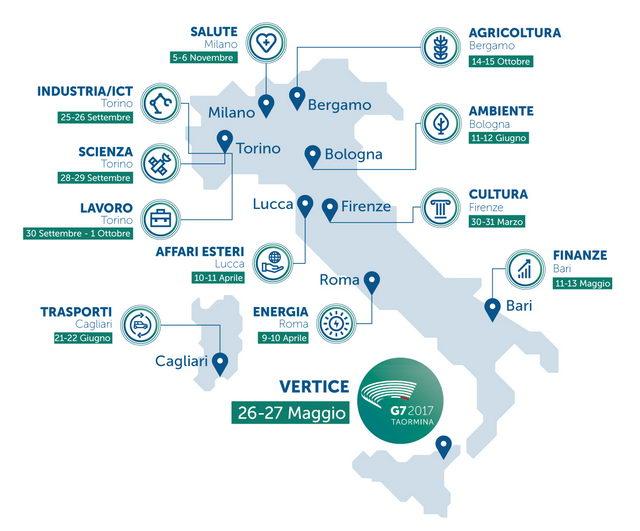 Календарь саммита Большой семерки G7 в Италии