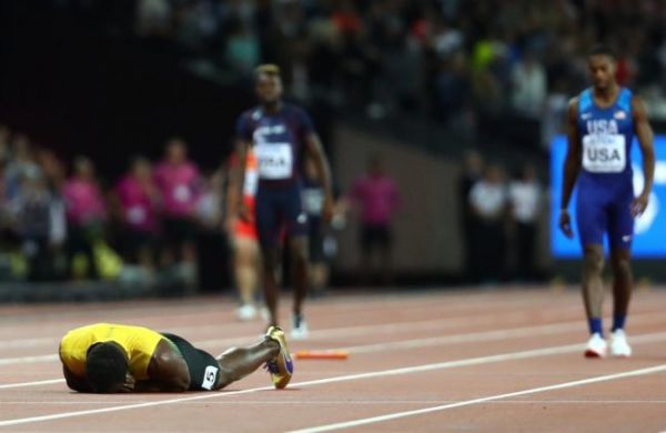 •Usain Bolt down with muscle pull in his final race  . . . Saturday night in London.