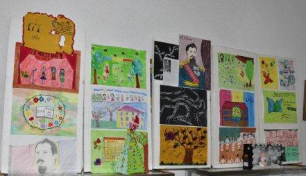 Falticeni-24 ianuarie Scoala Cuza expozitie de desene
