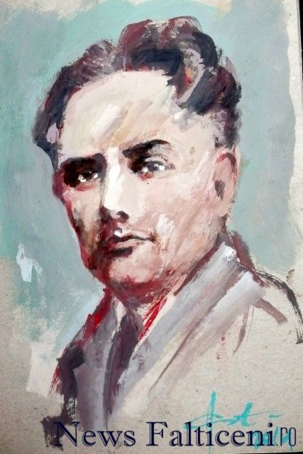 Falticeni-Portret Vasiel Ciurea realizat de pictorul Anton Costin