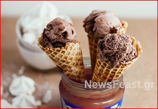 merenda icecream homemade praline