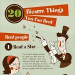 20 αλλόκοτα πράγματα που μπορείς να νοικιάσεις