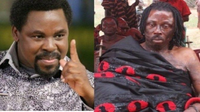 BREAKING! Ghanaian Native Doctor Kwaku Bonsam Calls Prophet TB Joshua His Boy Says He Uses Juju To Perform Miracles, TB Joshua Reacts