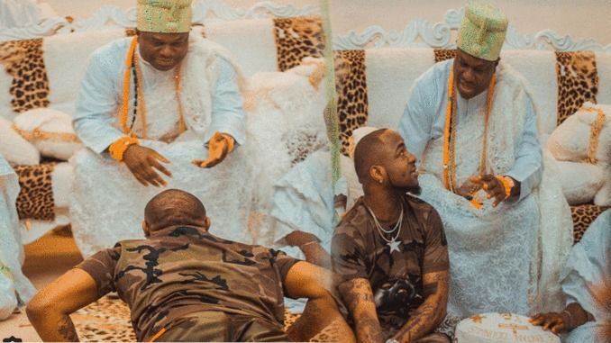 see amazing moment davido prostrates