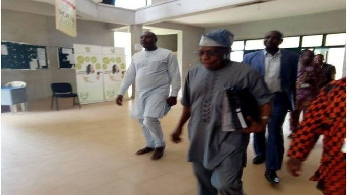 photos as ex-president obasanjo officially