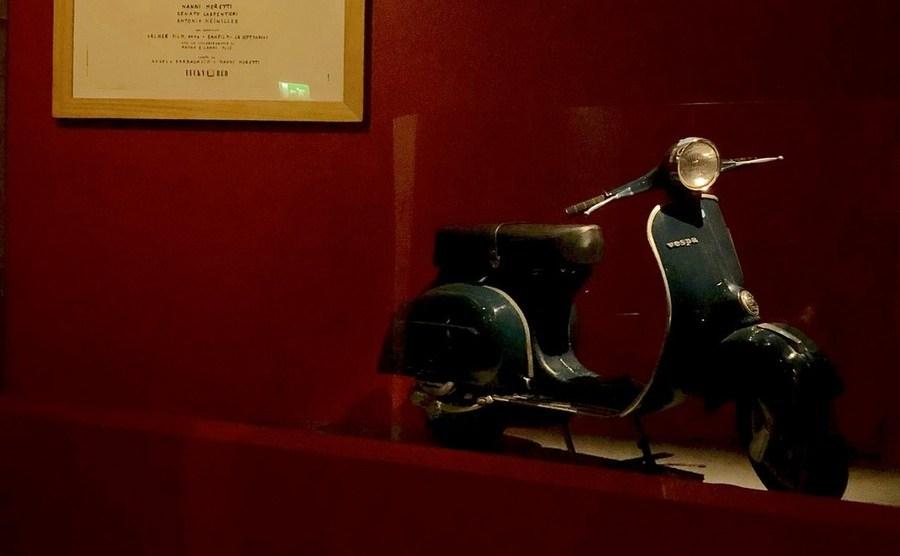 """La Vespa di """"Caro Diario"""" al Museo Nazionale del Cinema"""