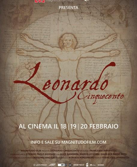"""""""Leonardo cinquecento"""" al cinema solo il 18, 19 e 20 febbraio – Trailer"""