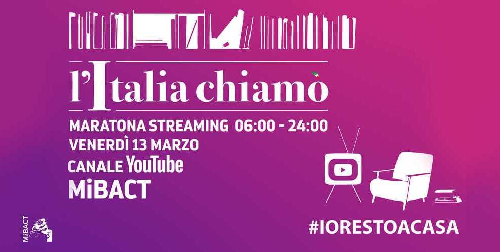 """NEWS /  LIVE  la maratona """"L'Italia Chiamo'"""""""