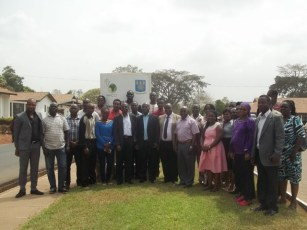 Professor Eric Yirenkyi Danquah (middle) in a group photo with dignitaries and participants at the workshop