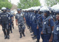 IGP Kudalor, inspecting a parade of police officers in Bolgatanga..png21068