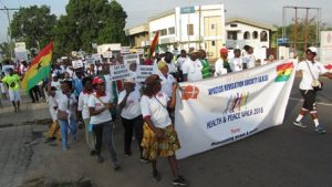 ARS youth marching for peace