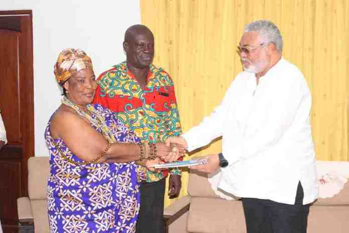 president-rawlings-was-presented-with-a-copy-of-the-volta-basin-research-report-1
