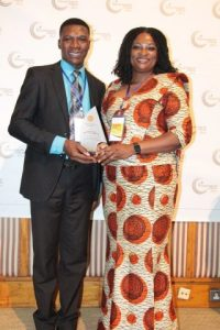 Dr. Ben Ocra of the National Philanthropy Forum with NADeF Chair Monica Nkrumah