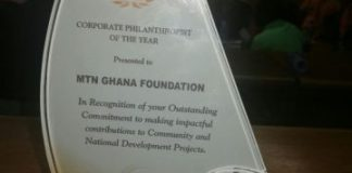MTN's Plaque for the Award