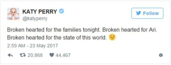 Katy Perry tweet