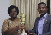 Dr Helen Ahulu , HOD Accounting with Frank Edem - President , DASA