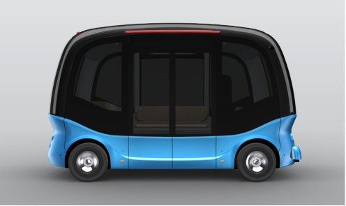 The blueprintof thesecond-generation micro-circulation bus.. (Photo by Xiamen King Long United Automotive Industry)