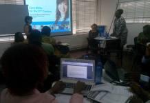Mrs Felicia Boakye-Yiadom speaking at the workshop