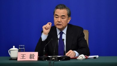Chinese Foreign Minister Wang Yi answers questions on China's foreign policies and foreign relations at a press conference on the sidelines of the first session of the 13th National People's Congress in Beijing on March 8, 2018. (Photo by Weng Qiyu from People's Daily Online)
