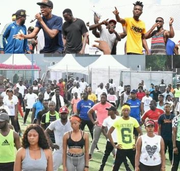 Opanka Kinaata Steal Show At Celebrity Work Out