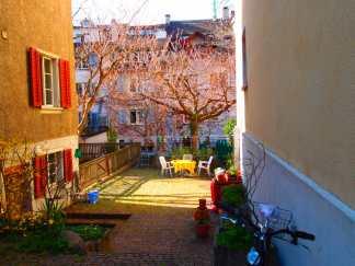 Backyard in Zurich's Old Town
