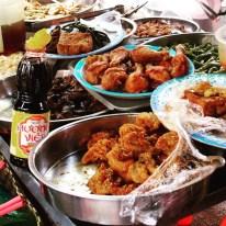 """Street melange, featuring """"crack fried chicken"""" in Saigon, Vietnam"""
