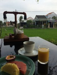 Breakfast with a view at Hoi An Chic
