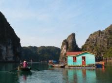 Visiting Cua Van floating village