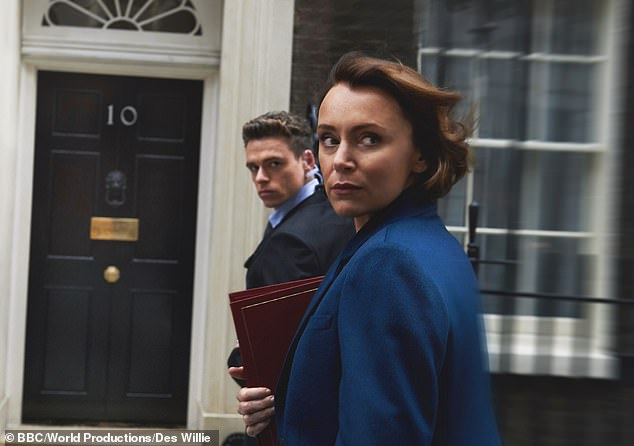 Madden said he was particularly concerned the audience would stop watching the show after the death of Miss Hawes's character, Julia Montague, pictured above with Madden, who played Richard Budd in the series