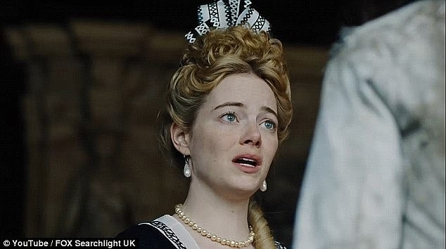 Emma Stone plays Abigail Masham, a lowly cousin of Churchill's who blags a job in the court