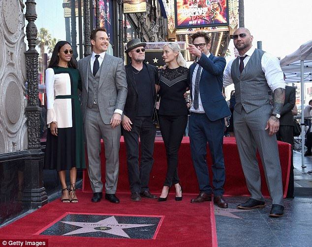 The crew: The Guardians Of The Galaxy cast all got in for a photo together