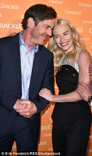 Something funny? The actress appeared to be in a playful mood laughing and cozying up to Dennis. In November, Sony's Crackle renewed the co-stars hour-long dramatic series for a second season
