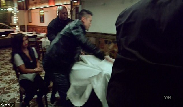 Erupt: Marissa watched on as bouncers jumped in to put an end to the explosive scene